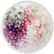Jewels On The Vine Round Beach Towel