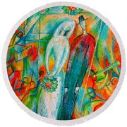 Jewish Wedding Round Beach Towel