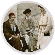 Jews In Jerusalem, C1900 Round Beach Towel