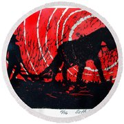 Jezebel And Me Round Beach Towel