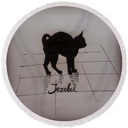 Jezebel Round Beach Towel