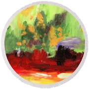 Jill's Abstract Round Beach Towel