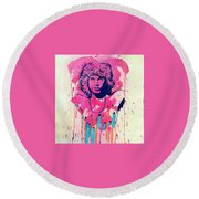 Jim Morrison  Round Beach Towel