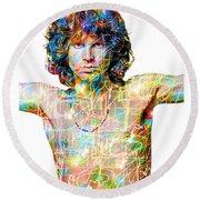 Jim Morrison The Doors Round Beach Towel