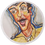 Jim Nabors Round Beach Towel