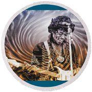 Jimi Hendrix - Legend Round Beach Towel