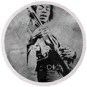 Jimi Hendrix Pop Star  Round Beach Towel