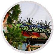 Jimmy Buffets Margaritaville In Las Vegas Round Beach Towel by Susanne Van Hulst