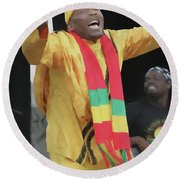 Jimmy Cliff Painting Round Beach Towel
