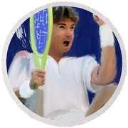 Jimmy Connors Round Beach Towel