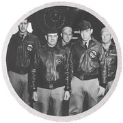 Jimmy Doolittle And His Crew Round Beach Towel by War Is Hell Store