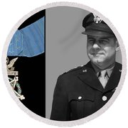 Jimmy Doolittle And The Medal Of Honor Round Beach Towel by War Is Hell Store
