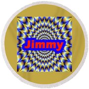 Jimmy Round Beach Towel
