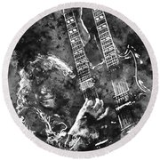 Jimmy Page - 02 Round Beach Towel