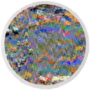 Jittery Colors Round Beach Towel