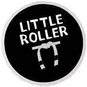 Jiu Jitsu Bjj Little Roller White Light Round Beach Towel