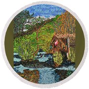 Jiuzhai Valley Round Beach Towel
