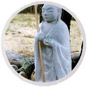 Jizo Bodhisattva - Children's Protector Round Beach Towel