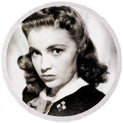 Joan Leslie, Vintage Actress Round Beach Towel