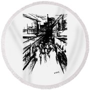 Frankenberg Material. 15 March, 2015 Round Beach Towel