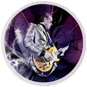 Joe Bonamassa Art Round Beach Towel