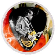 Joe Bonamassa Blues Guitar Art Round Beach Towel
