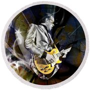 Joe Bonamassa Blues Guitarist Round Beach Towel
