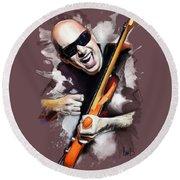 Joe Satriani Round Beach Towel