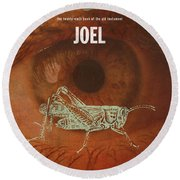 Joel Books Of The Bible Series Old Testament Minimal Poster Art Number 29 Round Beach Towel
