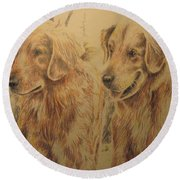 Joe's Dogs Round Beach Towel