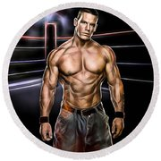 John Cena Wrestling Collection Round Beach Towel