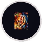John Coltrane  Round Beach Towel