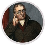 John Dalton - To License For Professional Use Visit Granger.com Round Beach Towel