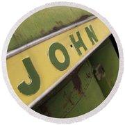 John Deere Round Beach Towel