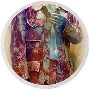 John Entwistle's Tie Died Suede Suit Round Beach Towel