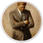 John F. Kennedy Round Beach Towel