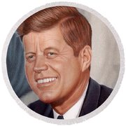 John F. Kennedy Round Beach Towel