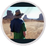 John Ford Country Round Beach Towel