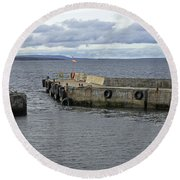John O'groats Harbour Round Beach Towel