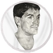 John Stockton Round Beach Towel by Tamir Barkan