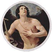 John The Baptist 1640 Round Beach Towel