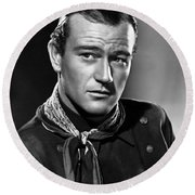 John Wayne Most Popular Round Beach Towel