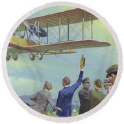 John William Alcock And Arthur Whitten Brown Who Flew Across The Atlantic Round Beach Towel