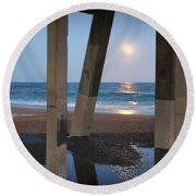 Johnnie Mercers Pier Again Round Beach Towel