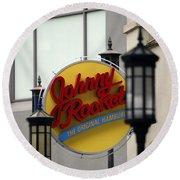 Johnny Rocket Signage Round Beach Towel