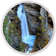 Johnston Canyon Falls Hike Upper Falls Round Beach Towel