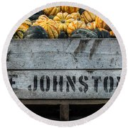 Johnston Fruit Farms Round Beach Towel