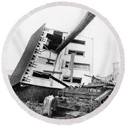 Johnstown Flood, 1889 Round Beach Towel