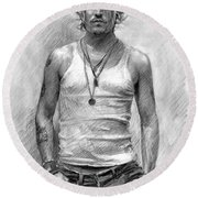 Johny Depp Round Beach Towel