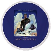 Join The Army Air Forces Round Beach Towel